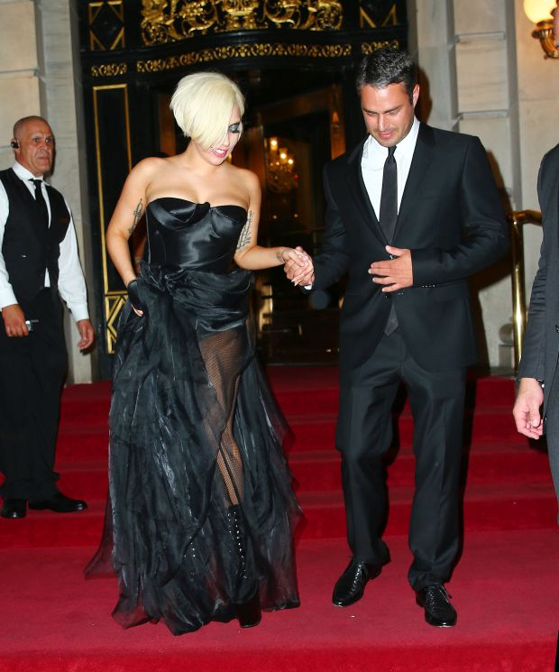 Lady Gaga and Taylor Kinney at the Harper's Bazaar Icons Event at The Plaza Hotel in NYC