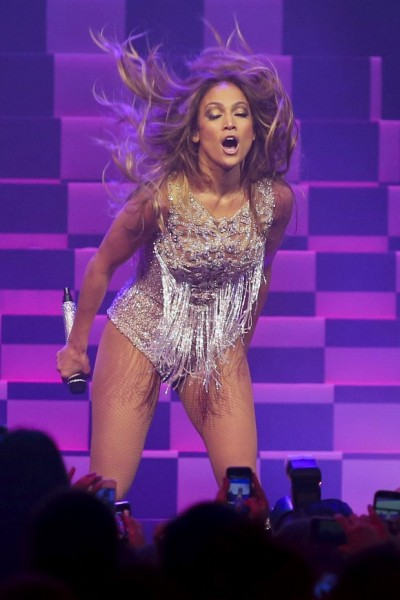 Jennifer Lopez dazzles in a beaded dress for a surprise We Day Vancouver performance!