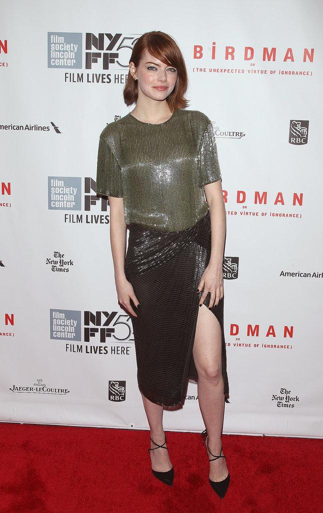 Emma-Stone-showed-some-leg-New-York-Film-Festival-Saturday