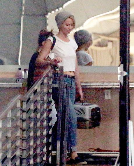 PREMIUM EXCLUSIVE Jennifer Lawrence skips the bra at Milk Studioss