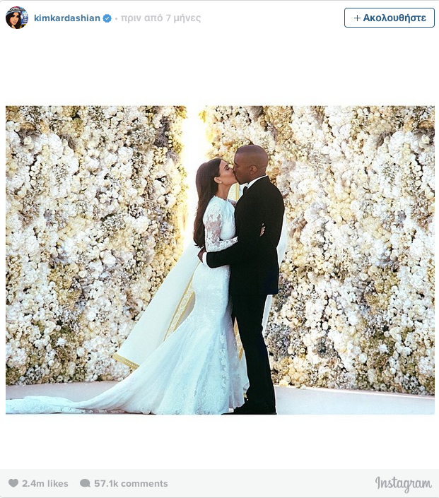 This Photo Of Kim Kardashian On Her Wedding Day Was The Most Liked Instagram Picture Of 2014