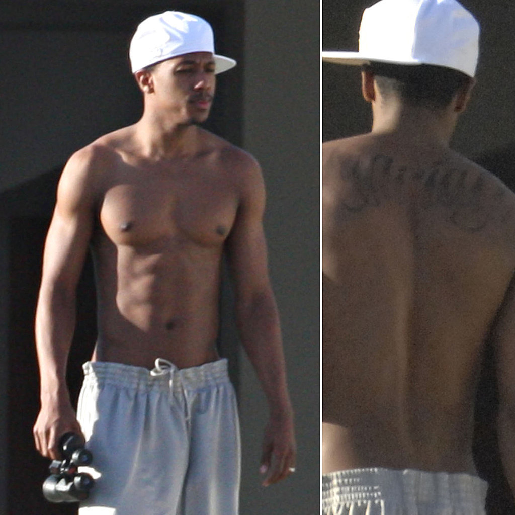 Nick-Cannon-braved-through-long-tattoo-session-when-he-got-Mariah