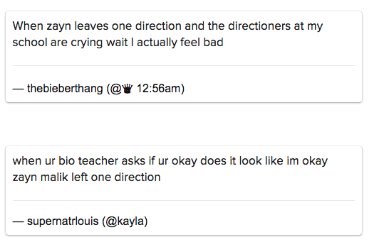 Teens Are Posting Videos And Pictures Of Themselves Crying Over Zayn Malik Leaving One Direction