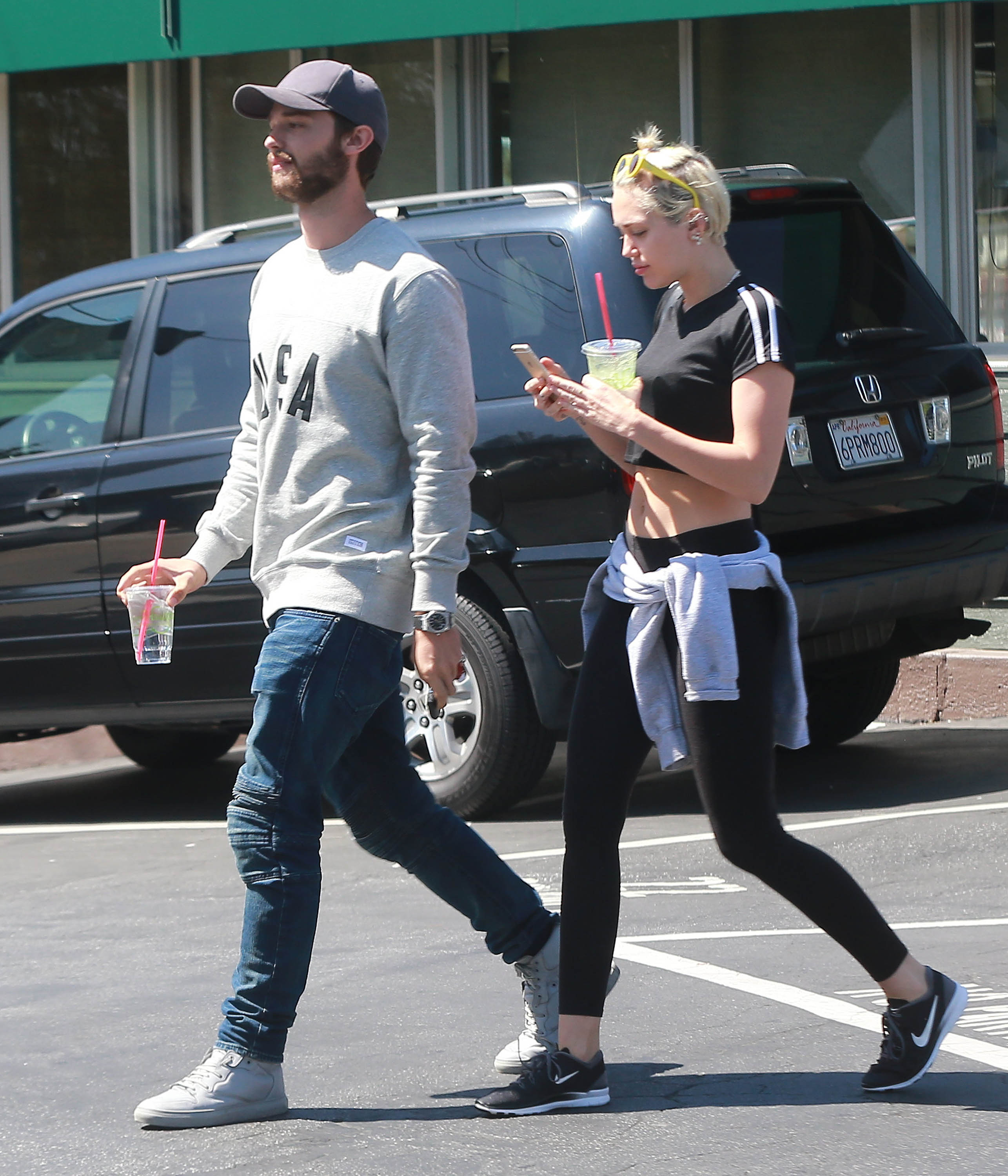 Semi-Exclusive... Miley Cyrus Forgives and Forgets as She Gets Cozy With Patrick Schwarzenegger  - ADD WEB FEES