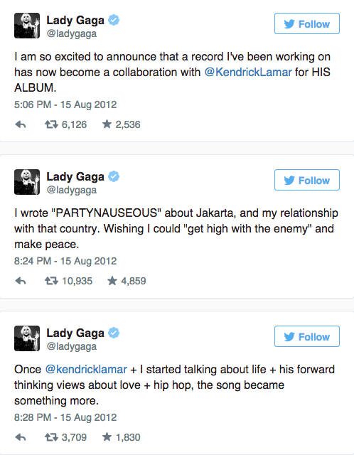 Kendrick Lamar And Lady Gaga s  Partynauseous  Was Worth The Three Year Wait   MTV