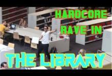 Rave strikes back, και μάλιστα σε βιβλιοθήκη!