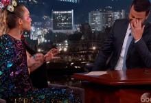 Σχεδόν γυμνή εμφανίστηκε η Miley Cyrus στο show του Jimmy Kimmel