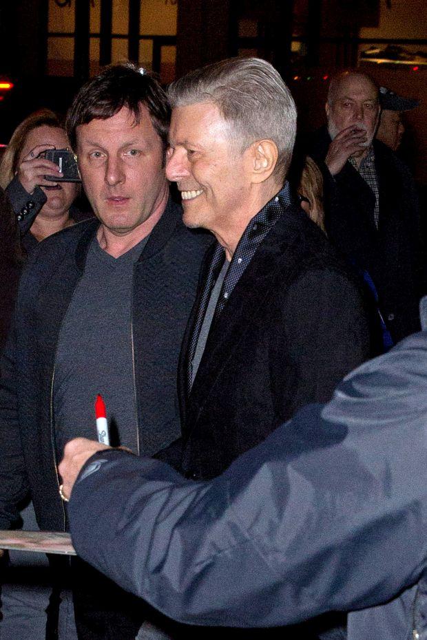 O Bowie ένα μήνα πριν πεθάνει.