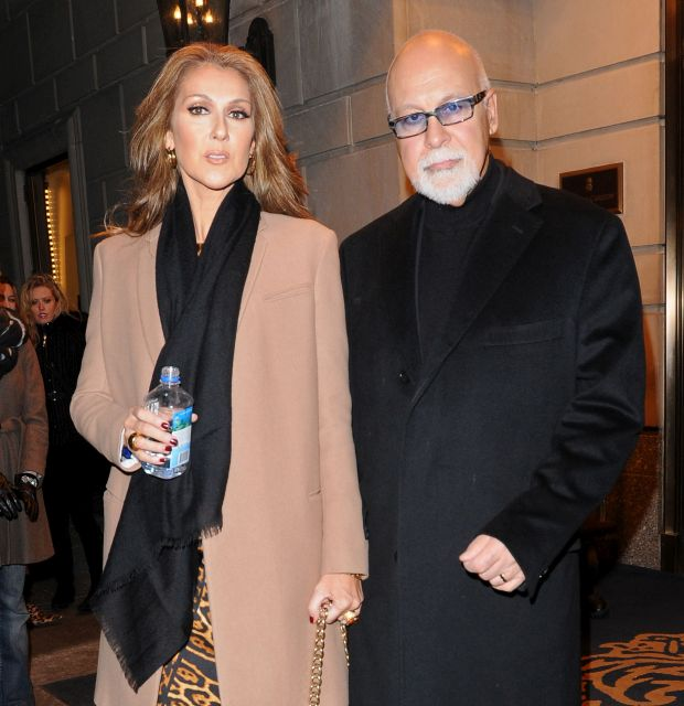Celine Dion and her husband Rene Angelil are pictured on a night out in New York City. Pictured: Celine Dion and Rene Angelil Ref: SPL156396  080210   EXCLUSIVE Picture by: Asadorian-Mejia/Splash News Splash News and Pictures Los Angeles:310-821-2666 New York:	212-619-2666 London:	870-934-2666 photodesk@splashnews.com