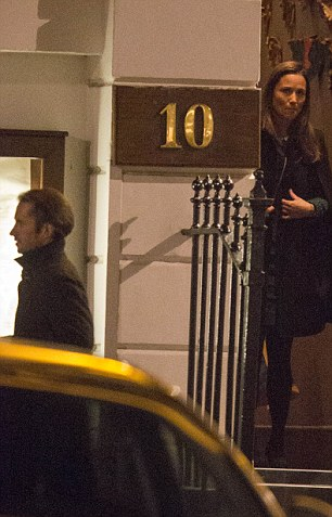"""***COPYRIGHT: CONSTANT MEDIA***  EXCLUSIVE - DO NOT PUBLISH PRIOR TO WRITTEN AGREEMENT OF FEES AND RIGHTS. INFO@CONSTANT.MEDIA DO NOT BYLINE. Book author Pippa Middleton and Carole Middleton enjoyed a cosy Indian meal with """"new boyfriend"""" James Matthews at Rasoi in Chelsea. 14/01/2016 For more information on story please email info@constant.media. NOTE TO EDITORS: None of the subjects were followed to or from the restaurant. All pictures were taken on a 400mm lens. The subjects were not aware of the photographer. All pictures were taken on a public road from a public road in full view of members of the public.  The subject was visible to the naked eye."""