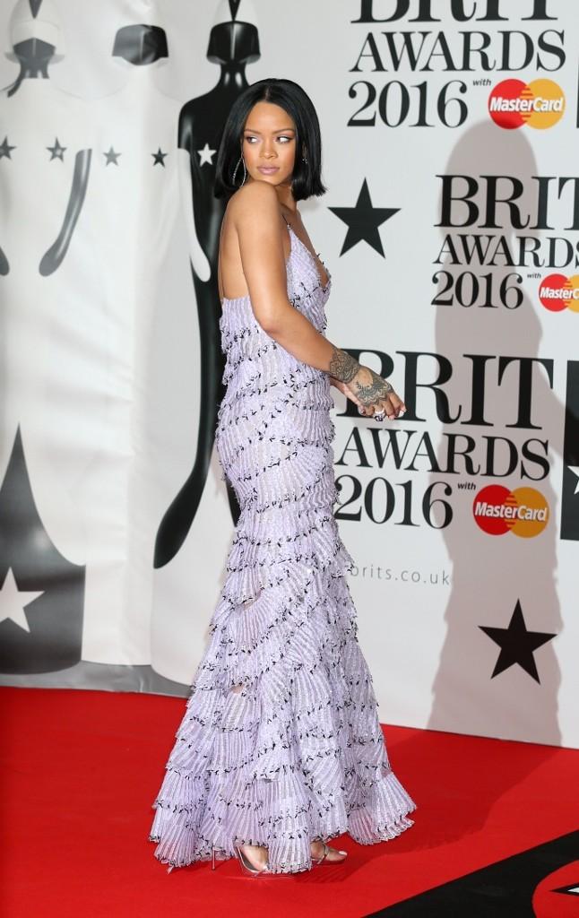 MANDATORY BYLINE: Jon Furniss / CorbisRihanna attending The BRIT Awards arrivals at O2 Greenwich, London, Britain on 24 Feb 2016.Pictured: RihannaRef: SPL1234704  240216  Picture by: Jon Furniss / CorbisSplash New
