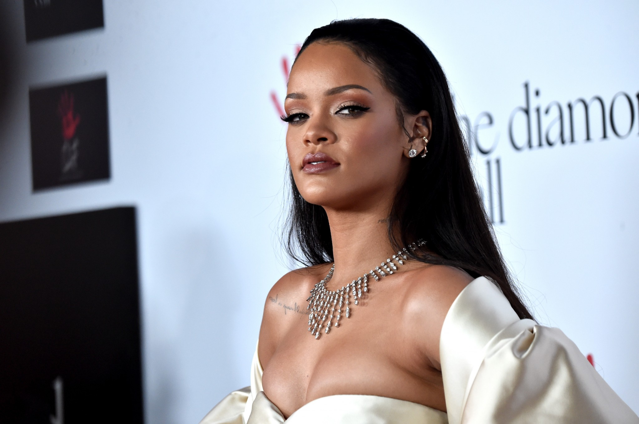 SANTA MONICA, CA - DECEMBER 10:  Recording artist Rihanna attends the second Annual Diamond Ball hosted by Rihanna plus the Clara Lionel Foundation at Barker Hanger on December 10, 2015 in Santa Monica, Ca.  (picture by Alberto E. Rodriguez/Getty graphics)