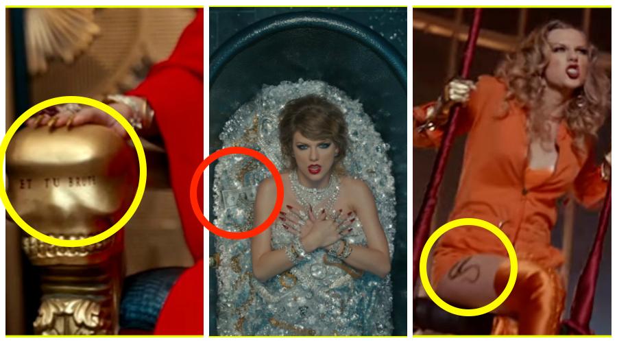 κρυμμένα μηνύματα στο νέο clip της Taylor Swift
