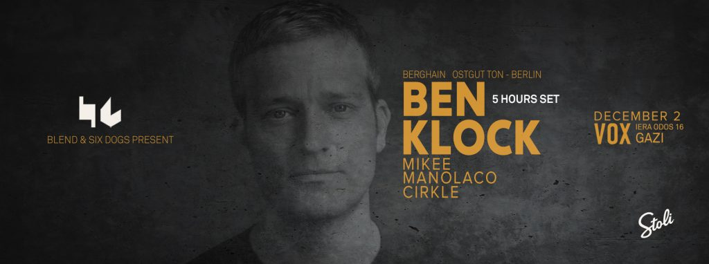 Ben Klock στο VOX