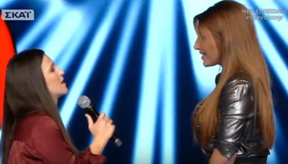 The Voice: Το συγκινητικό ντουέτο της Έλενας Παπαρίζου με την παίκτρια