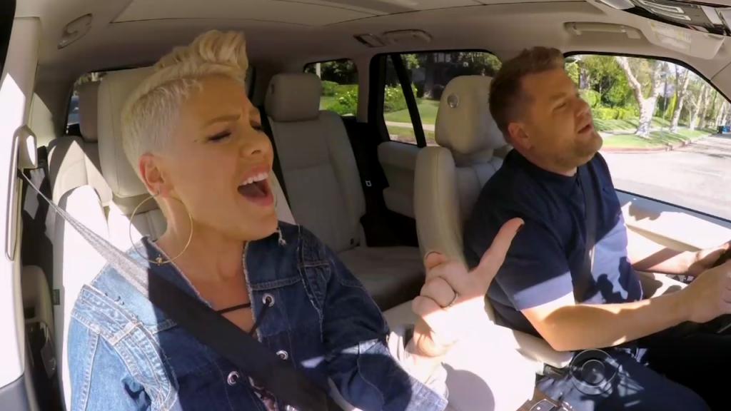 H Pink στο νέο Carpool Karaoke