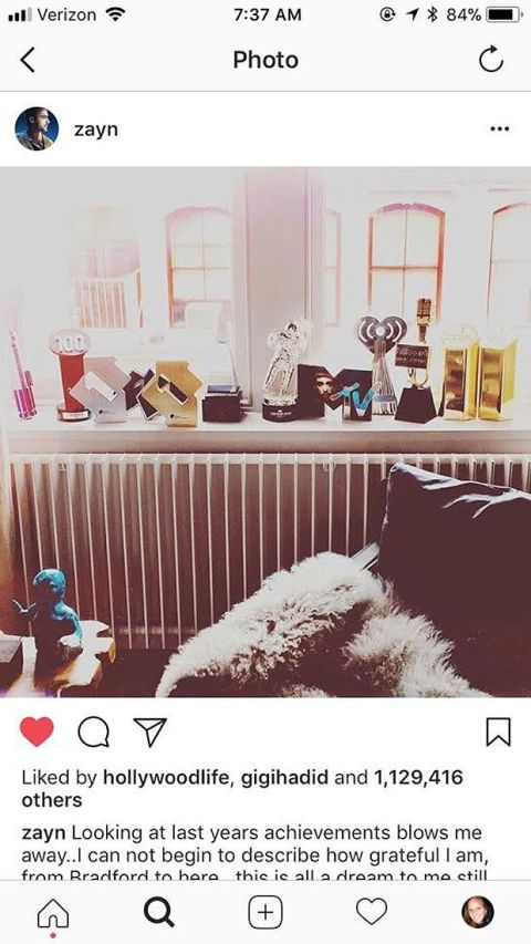 Gigi Hadid έκανε like σε ένα post του Zayn
