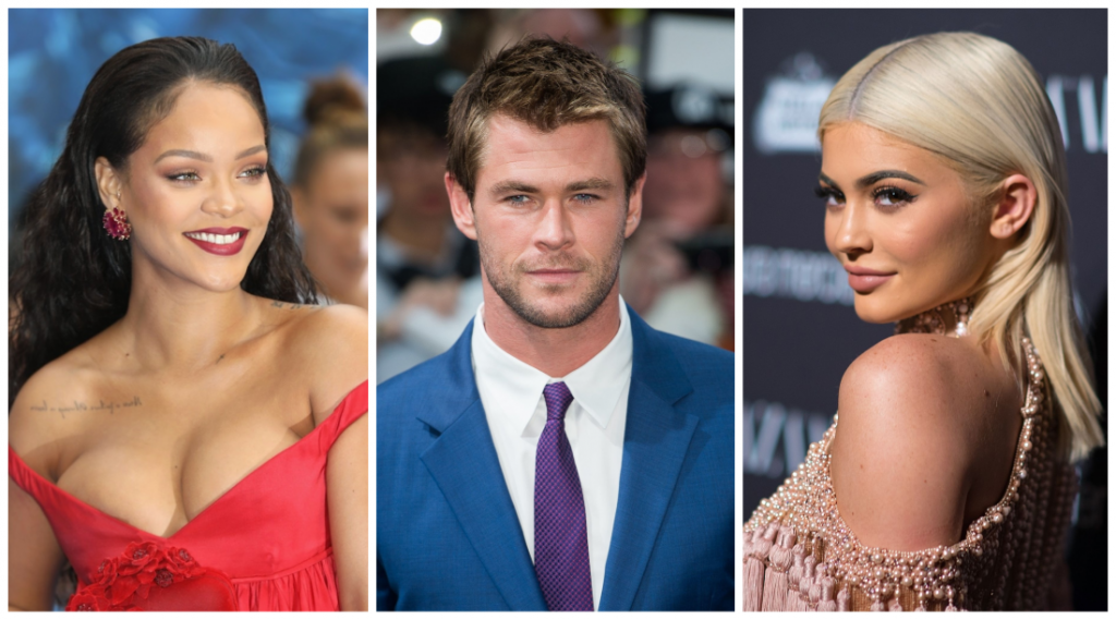 πιο ακριβοπληρωμένοι celebrities του 2018