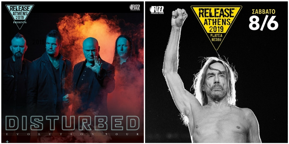 Disturbed και ο Iggy Pop στo Release Athens 2019