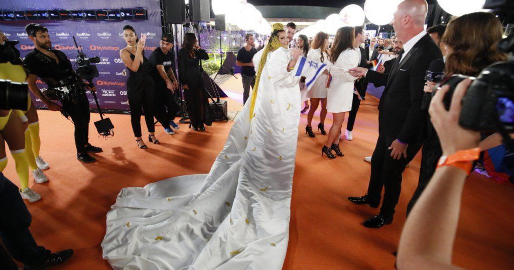 εμφανίσεις στο orange carpet της Τελετή Έναρξης της Eurovision 2019