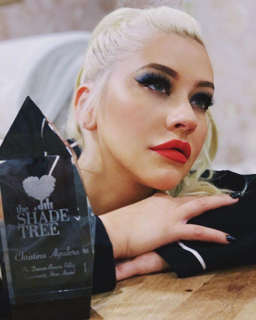 Christina Aguilera. βραβείο απο οργάνωση θυμάτων ενδοοικογενειακής βίας
