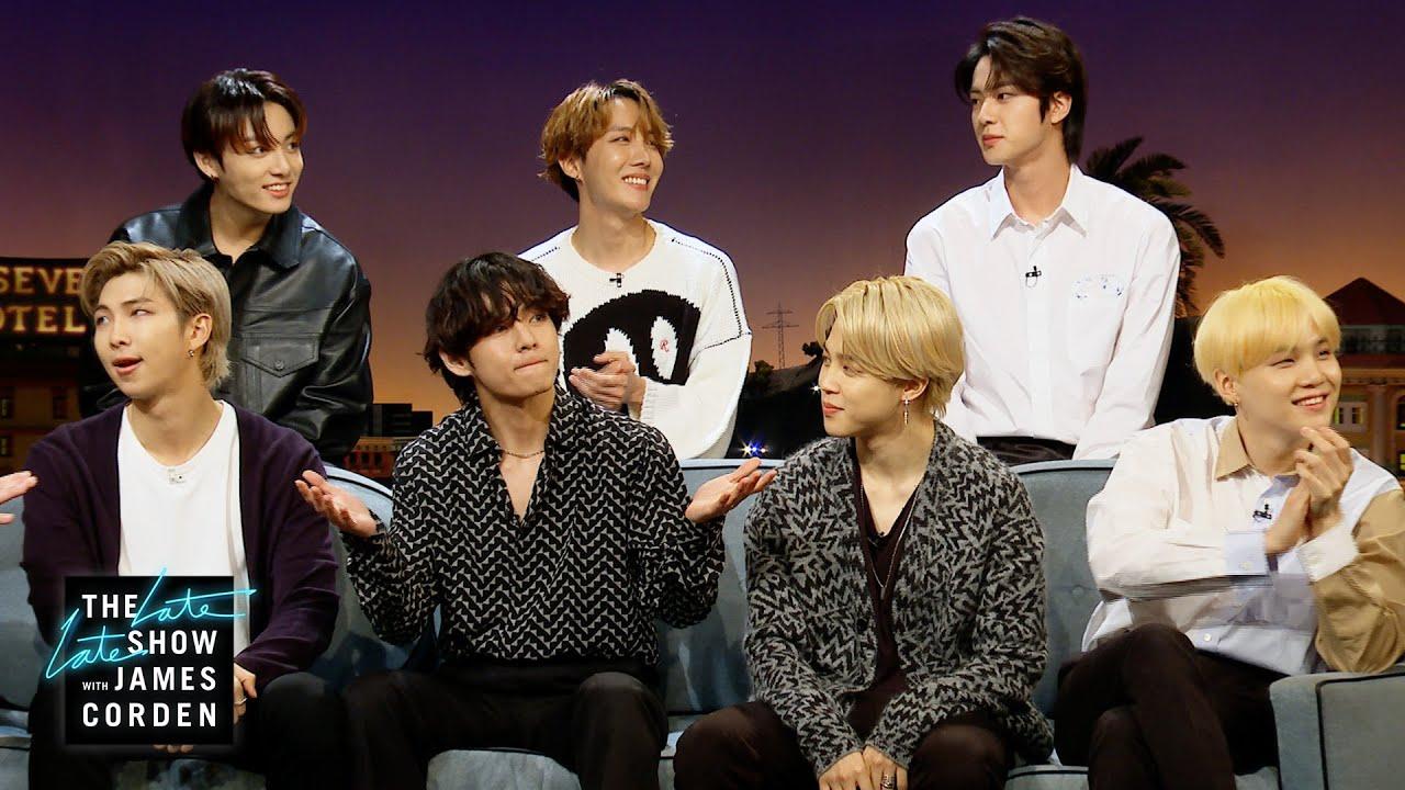 show των BTS «έκλεψε» την παράσταση στην εκπομπή του James Corden